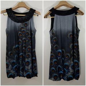 AX Paris Dress Peacock Bubble Hem Size 14